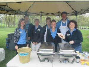 lunch tent staff